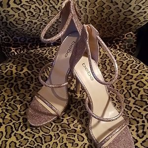 Babe glitter party heels-BRAND NEW, never worn!